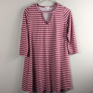 Socialite striped pink white mini dress. Size S